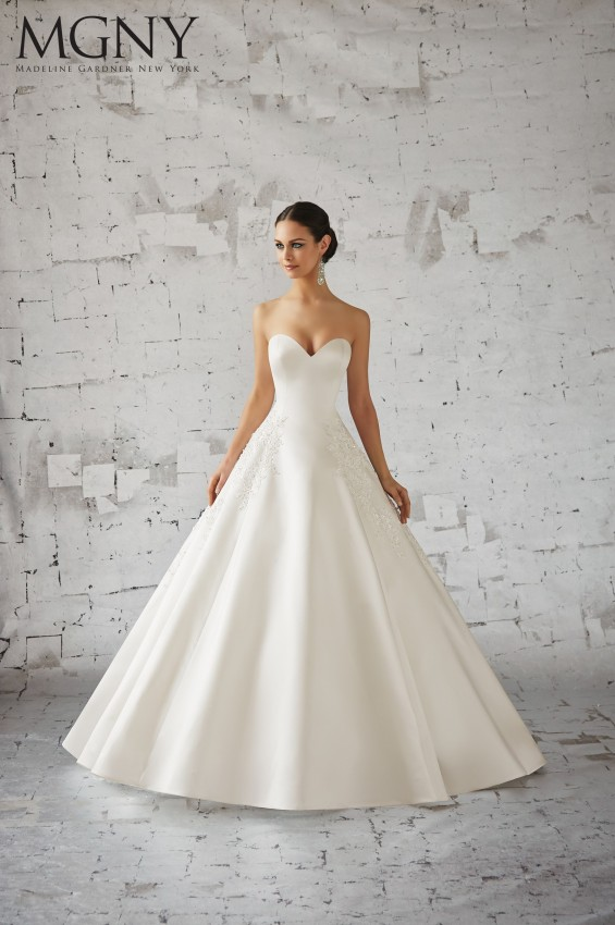 For The Classic Bride Madelyn Gardner New York 51139 Is A Beautiful Option This All Satin Ball Gown Has Sleek Elegant Look