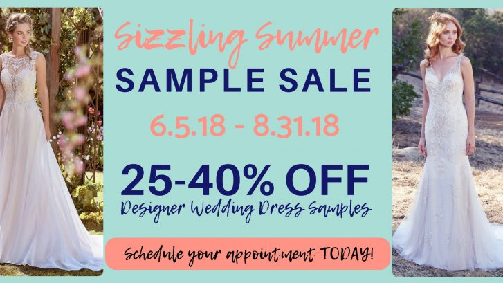 Sizzling Summer Wedding Gown Sample Sale! | Mias Bridal & Tailoring